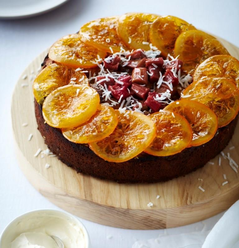 Rhubarb Cardamom Cake
