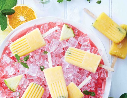 Pink Grapefruit, Mango and Mint Cocktail Popsicles, Recipe by Gretchen Lowe